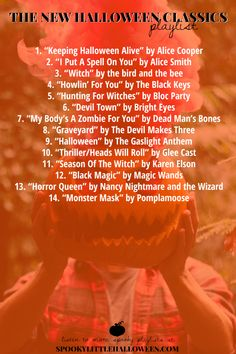 Then you better make sure these 14 songs are on your playlist this year! Meet the music I'm calling the NEW Halloween classics. Halloween Playlist, Halloween Songs, Halloween Season, Halloween 2018, Holidays Halloween, Fall Halloween, Halloween Crafts, Happy Halloween, Halloween Decorations
