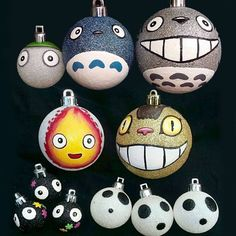 Studio Ghibli Christmas Tree Ornaments