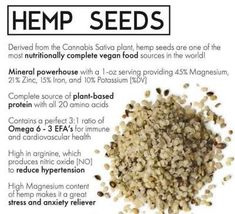 Eat it raw or add a spoonful or two into smoothies, salads or yogurt! While most nuts and seeds can cause allergies and food sensitivities, Hemp seed is one of the few hypoallergenic seeds, meaning it has very low allergy potential! Low Carb Keto, Low Carb Recipes, Vegan Recipes, Healthy Fats, Healthy Life, Plant Based Protein, Hemp Seeds, Hemp Oil, Food Preparation