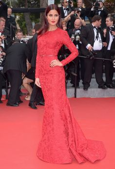 Katrina Kaif wears ELIE SAAB PreFall 2015 to the 'Mad Max : Fury Road' Premiere during the 68th annual Cannes Film Festival.