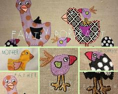 The Easter Birds, 12 Colourful and Whimsical Embroidery Designs to bring Spring in to your home - Very All-yearish and yet also Easterish by fruBlomgren on Etsy https://www.etsy.com/transaction/1274446655