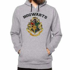 c2180afc08 Blusa Moleton Com Capuz Hogwarts School Harry Potter - R  65