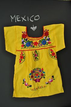 Bright Yellow Mexican Infant Toddler