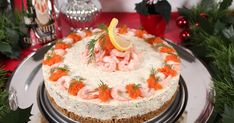 Cake By Mary: Räkcheesecake Swedish Christmas, Sandwich Cake, Swedish Recipes, Holiday Cocktails, Fish And Seafood, Finger Foods, Food Art, Food Inspiration, Special Occasion