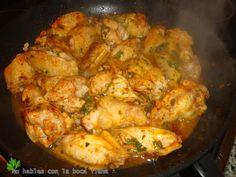 """Receta modificada del libro """"Las recetas Dukan"""" (Dr. Pierre Dukan – 2010 – RBA Libros, S.A.). INGREDIENTES 8-10 alitas de pollo; 6 dientes de ajo; 1 cucharadita de pimentón …"""