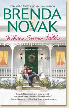 When Snow Falls by Brenda Novak.  After growing up in cheap motels, moving from town to town with her sister and mother, Cheyenne Christensen is grateful to be on her own. She's grateful, too, for the friends she found once her family settled in California. But she's troubled by the mystery of her earliest memories, most of which feature a smiling blonde woman. A woman who isn't her mother.