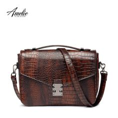 Purse. AMELIE GALANTI designer crossbody bag for women, high quality serpentine pattern