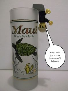 Hawaii Green Sea Turtle Tall Frosted Shot Glass