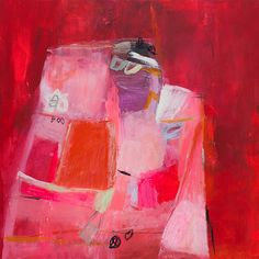 Large Wall Art Red ABSTRACT painting Canvas art, 32X32, Modern Art bold ready to hang by Duealberi