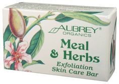 Aubrey Organics - Meal & Herbs Exfoliation Skin Care Bar, 3.6 oz bar soap by Aubrey Organics. $5.29. Wake up your senses with this invigorating glycerin bar that combines natural soaps with cooling organic eucalyptus oil and menthol. Aubrey Organics. Meal N Herbs Exfoliating Bath Bar by Aubrey Organics 3.6 oz. Bar Meal Herbs Exfoliating Bath Bar 4oz Gentle bar leaves skin fresh and silky-smooth. Mild exfoliants help clear away dead skin cells while herbal emollients restore your ...