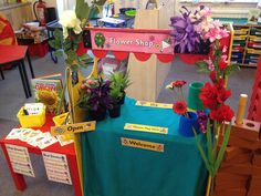 Plants Flower Shop welcome Open Please Pay Here Flowers Till Display Classroom Display Early Years EYFS Primary Teaching Resources Eyfs Activities, Interactive Activities, Class Activities, Preschool Lessons, Creative Activities, Creative Ideas, Eyfs Classroom, Classroom Displays, Classroom Ideas