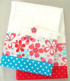 Red & Teal dishtowels - love!