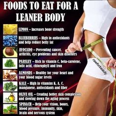 Foods to eat for a leaner body