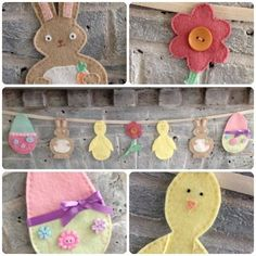 'Sew Your Own' Easter Bunting kits - The Supermums Craft Fair