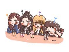 #Blackpink #Rose #Jennie #Lisa #Jisoo #fanart #mayko