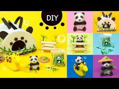 Diy Doll Miniatures, Polymer Clay Animals, Cool Pets, Clay Crafts, Pet Shop, Panda, Dolls, Diorama, Origami