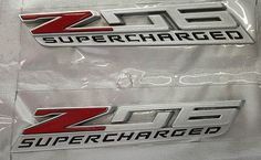 2014 2015 2016 C7 Corvette Stingray Z06 Front Fender Emblems - Custom Painted