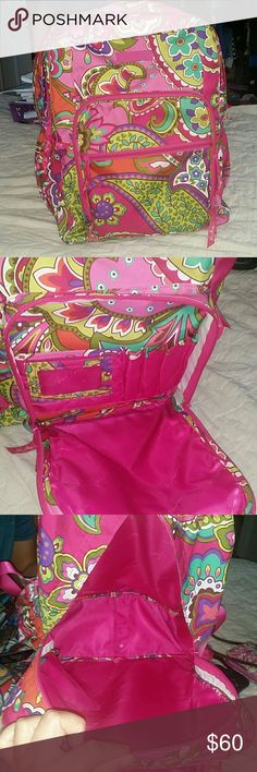 Vera bradley 4 compartment backpack In excellent condition no holes very clean is very spacious Vera Bradley Bags Backpacks