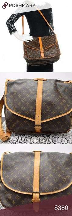 Authentic LOUIS VUITTON Monogram Saumur 35 Bag Adorable beautiful bag.  Preloved in very good condition. Exterior shows minor scratches a65d1135da900