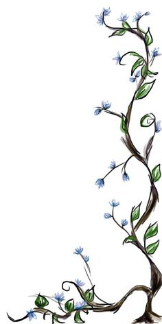 Seven Flower Vine Drawing Rituals You Should Know In 12 Vine Drawing, Plant Drawing, Flower Vine Tattoos, Vine And Branches, Vine Border, Embroidery Flowers Pattern, Border Embroidery, Tree Tattoo Designs, Tattoo Tree