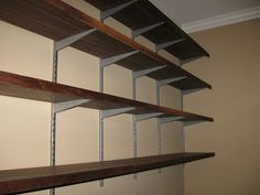 Just Square Enough: Walnut Office Shelves