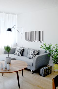 ferm LIVING Barcode Wall Sticker in Black - - Wall Decals & Stickers - Wall Art & Coverings - Decor Modern Wall Stickers, Wall Decor Stickers, Wall Decals, Wall Art, 3d Wall, Interior Walls, Interior Design, Ideas Geniales, Creative Walls