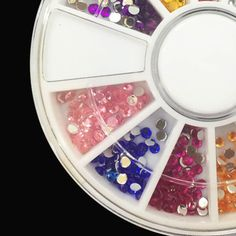 1Pack Nail Decoration Diamond 12 Color Nail Art Diamond Glitter,3D Nail Art Tools Decorations Rhinestones Jewelry Makeup Tools
