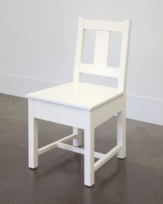 White Slatback Chair from Domestic Furniture, studio of Roy McMakin