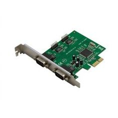 Syba Io Sy-Pex-4S 4 Port Serial Rs-232 Pci-Ex1 Card by Syba. $39.93. 4x 16C450/550/Extended 550 compatible UARTs.Supports RS232, RS485 and RS422 modes.Bi-directional speeds from 50 bps to 16Mbps/Port.Full Serial Modem Control.Supports Hardware, Software flow control.5, 6, 7, 8 and 9-bit Serial format Support.Even, Odd, None, Space Mark parity supported.Custom BAUD Rates supported with external clock or by programming internal PLL.On Chip 256 Byte depth FIFOs in Transmit, Receive ...
