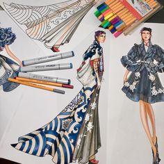 The Empress #inspiration #asian #china #fashiondesign #fashionillustration #fashionillustrator #artist #illustrator #illustration #designer #paulkengillustrator