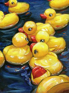 """When Martha heard the news, she fainted dead away."" ""When Ducks Gossip"" is from my State Fair USA series. Available as fine art prints and ducky shower curtains! Painting Inspiration, Art Inspo, Art Sketches, Art Drawings, Duck Art, Color Pencil Art, Ap Art, Mellow Yellow, Yellow Art"
