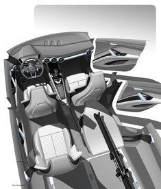 Audi Crossover Concept for Beijing 2014 - Interior Design Rendering
