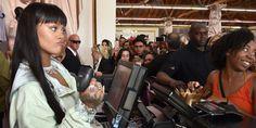 Rihanna Played Cashier at Her Fenty x Puma Pop-Up  http://www.elle.com/culture/celebrities/news/a44645/rihanna-cashier-fenty-puma-pop-up/