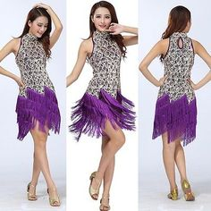 309f5e3d5 Latin Rumba Salsa Tango Cha cha Dance Ballroom Party Sequins Tassel Dress  H74 | Women's Dancewear | Dancewear & Accessories