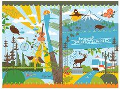 Travel Portland @amyruppel   #pdx #portland #illustration