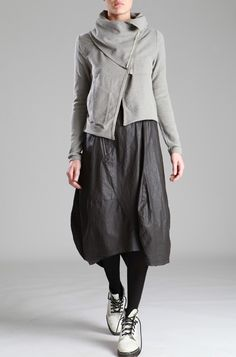Cotton Skirt with Resin coating by LURDES BERGADA