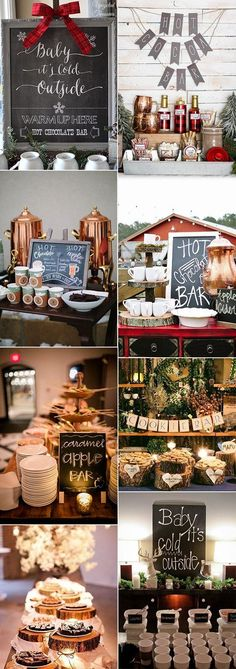 winter wedding bars to warm your guests