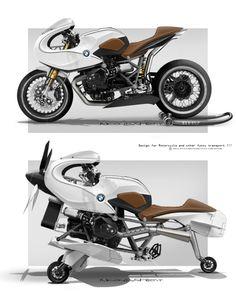 Paradoxe : en 1940 les designers s'inspiraient déjà des avions pour certaine voitures... Aujourd'hui on s'inspire des mondes de sciences fiction pour créer des voitures, motos ,et d'autres produits. A l'inverse de ces inspirations futuristes, on reviens...