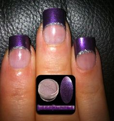 Our Deep Purple acrylic nail art powder.    Available from www.thenailartist.co.uk    Nails created by Laura from The Nail Lounge in Northwich Cheshire UK using Inverted Moulds.