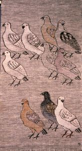 """Dove"", Mural tapestry from the Dora Jung workshop,1951"