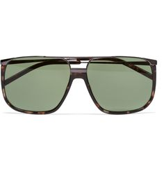 Yves Saint LaurentTortoiseshell Aviator Sunglasses|MR PORTER