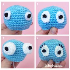 Light Bulb: Amigurumi Eyes with Yarn - Blog - Buddyrumi ✿⊱╮Teresa Restegui http://www.pinterest.com/teretegui/✿⊱╮