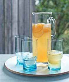 Ginger Beer | 4 	 lemons  1 	 orange  3/4 	 cup 	 roughly chopped fresh ginger  3/4 	 cup 	 honey  3/4 	 cup 	 sugar  1 1/4 	 cups 	 orange juice  4 	 cups 	 sparkling mineral water, chilled