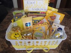 A Box Full of SUNSHINE! A quick and simple gift to brighten anyone's day!
