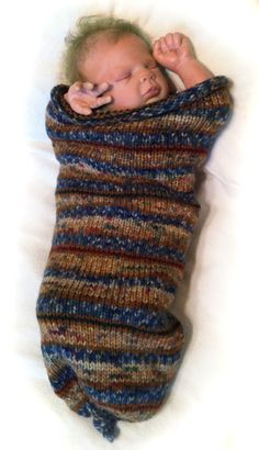 hand knitted cocoon - my pattern
