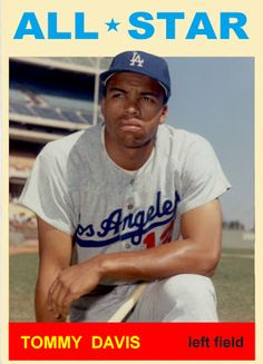 1964 Topps Tommy Davis All Star. Los Angeles Dodgers. Baseball Cards That Never Were