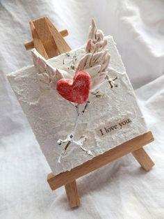 Fiber Paste/paper clay mini canvas by scarlett