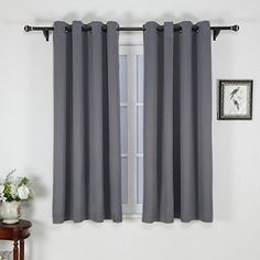 Nicetown Window Treatment Thermal Insulated Solid Grommet Blackout Curtains Drapes For Bedroom Set Of