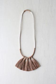MEDEA necklace silk tassel fringe rope statement por forestiere