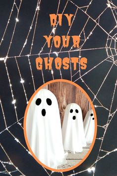 "The secret to these ""floating"" ghosts might surprise you, but they're a thrift store staple. Click HERE for my full tutorial with tips and tricks!"